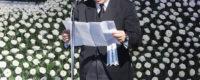 取引先や故人のご友人など複数名の弔辞者より弔辞を拝した後に行われた葬儀(お別れの会)委員長挨拶