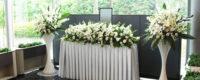 社葬を行った会場とは別に主催企業の営業所を遥拝式場として設営した遥拝祭壇