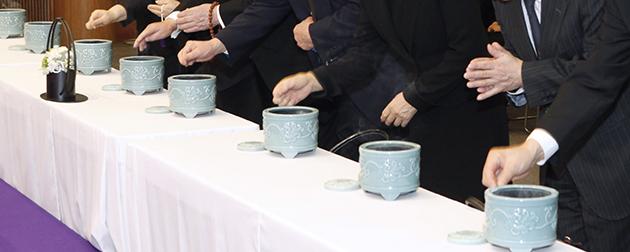 会社主催で行った、仏式で焼香のある合同葬のお葬式