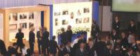 お別れの会や偲ぶ会の演出で使われる故人の足跡のパネル展示