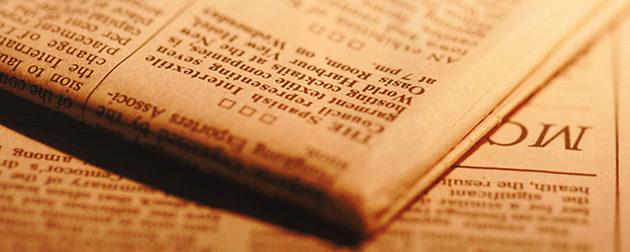 おくやみ欄に訃報が掲載される新聞