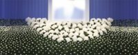 社葬取扱規程により社葬対象者として定められた代表取締役社長の社葬の祭壇