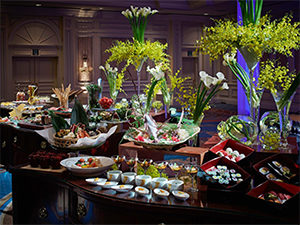 社葬セミナーで試食体験ができるリッツカールトン大阪の食事スペース