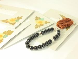 数珠と弔電